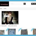 L'accueil de votre boutique en ligne