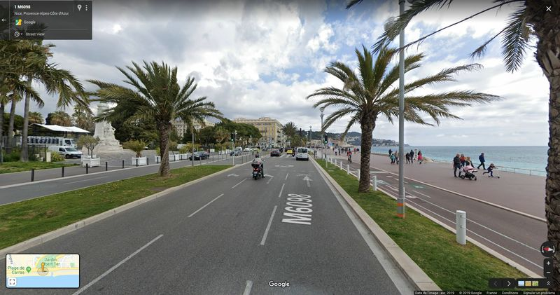 Exemple de rendu Google Street View à Nice