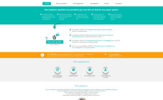 Page d'accueil de la partie publique de la plateforme collaborative.